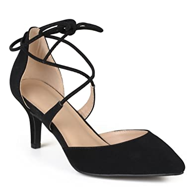 54e3fc79ef3e Journee Collection Womens Lace-up Ankle Strap Pointed Toe Pointed Toe Pumps  Black
