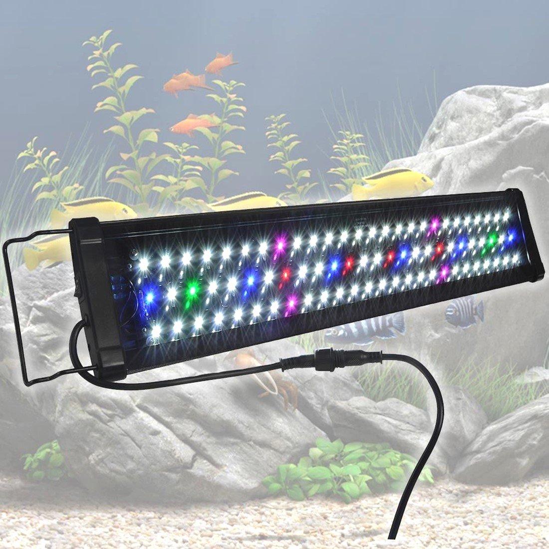 24'' 0.5W 78 LED Aquarium Light Multi-Color Full Spectrum Lamp 24''-30'' Fish Tank