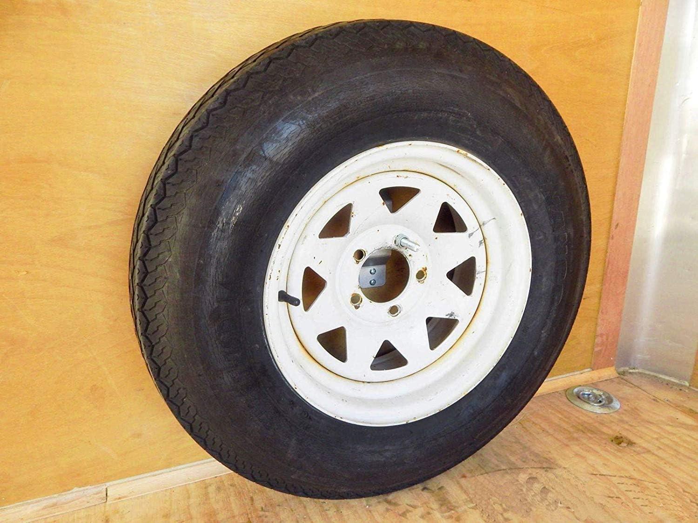 NIXFACE Enclosed Spare Tire Mount Holder Mount Wheel Bracket Utility Cargo Carrier Trailer