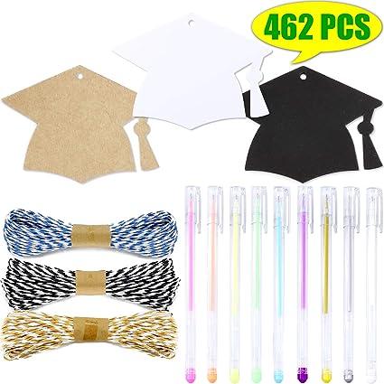 938f31c2cfb1 Amazon.com: WooKun 450 Pcs Graduation Season Gift Tag with Black ...
