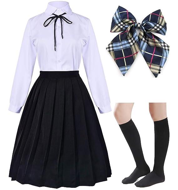 Amazoncom Vestido Largo Clásico Japonés De La Escuela De