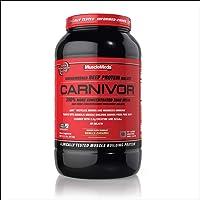 MuscleMeds Carnivor, 2 Pound Light Brown Vanilla Caramel 2 Pound 33.516 Ounce