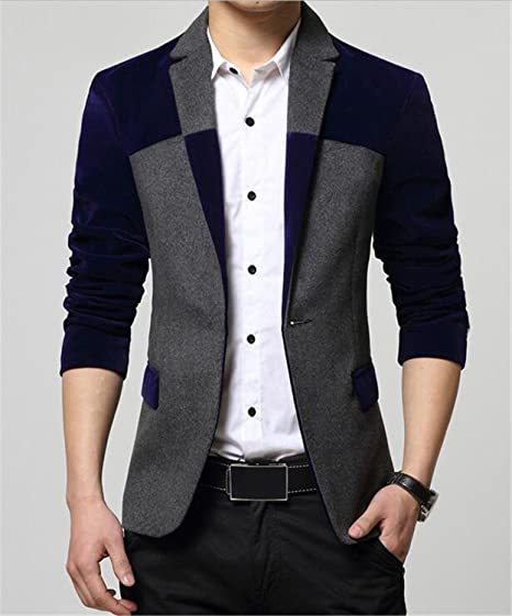 ec78543226aa NeeKer Jacket Blazers Men Fashion Men's Blazer Suit Dress Patchwork Suits  for Men Blazers Business Z2360