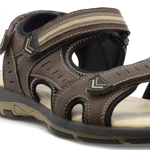 Sprox Breites Passendes Einfaches Schließendes Sandale im Braun für Männer - Größe 41 - Braun T70U1