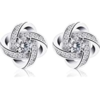B.Catcher Earings for Woman Silver Earrings Studs Cubic Zirconia Gemini Sets
