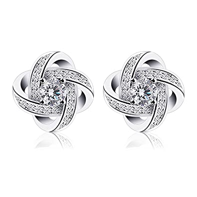 shaped round jewellery senco earings diamond gold