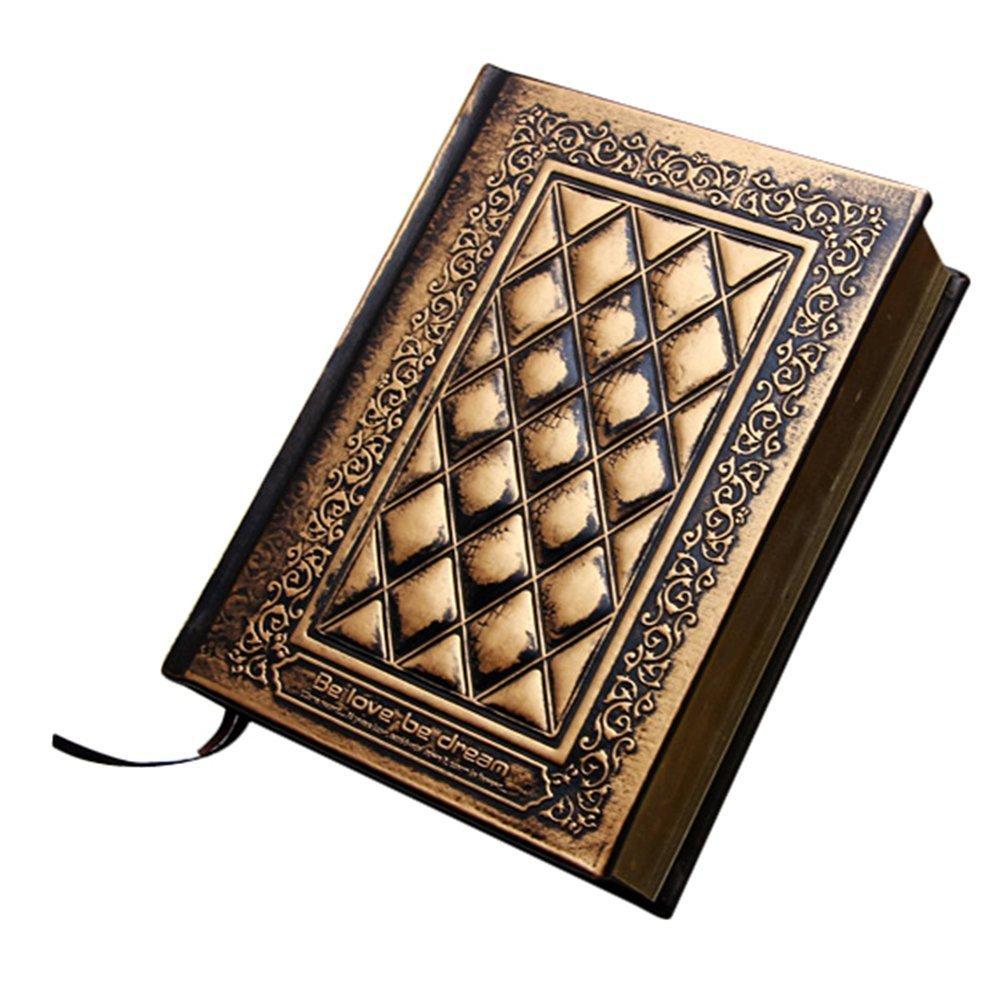 Festa del papà Regalo In stile europeo Retro in pelle fatto a mano in rilievo PU copertura diario notebook Quaderni da Scrittura QZBAOSHU yww0242