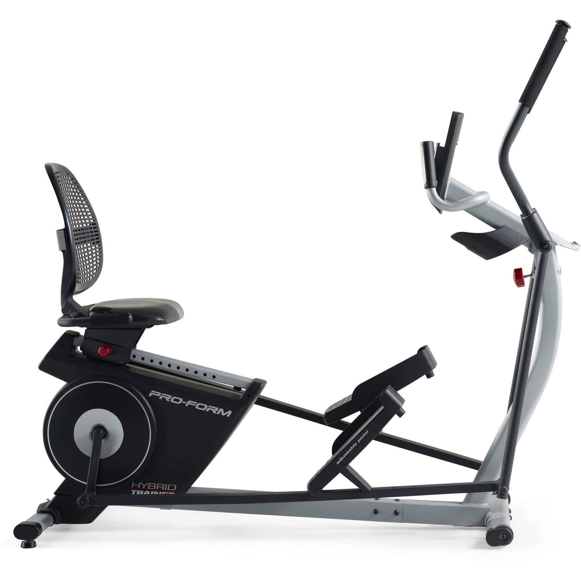 2-in-1 Double Elliptical and Recumbent Bike, Black by ProForm (Image #2)