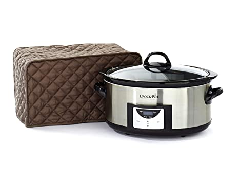 Black Covermates – Slow Cooker Cover – 10W x 8D x 16H – Diamond Collection – 2 YR Warranty – Year Around Protection