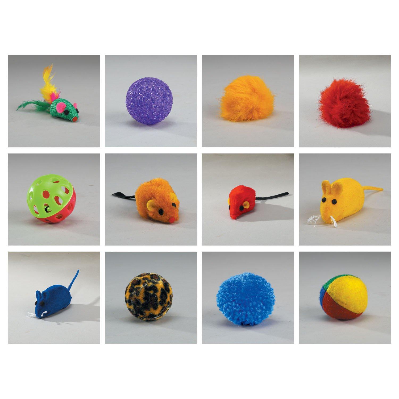 Zanies Kitty Playstation Refills: Leather Catnip Mice Cat Toys, 160 Pieces by Zanies (Image #2)
