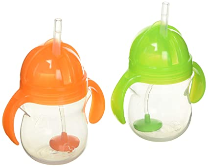 Colors may vary Munchkin Click Lock Weighted Flexi-Straw Cup