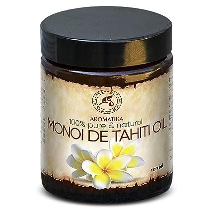 Aceite de Monoi de Tahiti 100ml - 100% Puro y Natural - Botella de Cristal