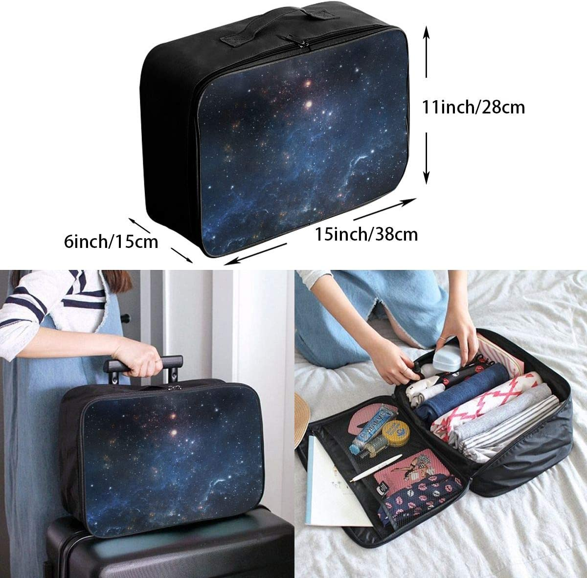 Planets-galaxy Travel Carry-on Luggage Weekender Bag Overnight Tote Flight Duffel In Trolley Handle
