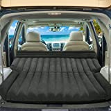 Goplus SUV Air Mattress for Back Seat, Inflatable Car Air Bed with Electric Air Pump Flocking Surface, Portable Car…