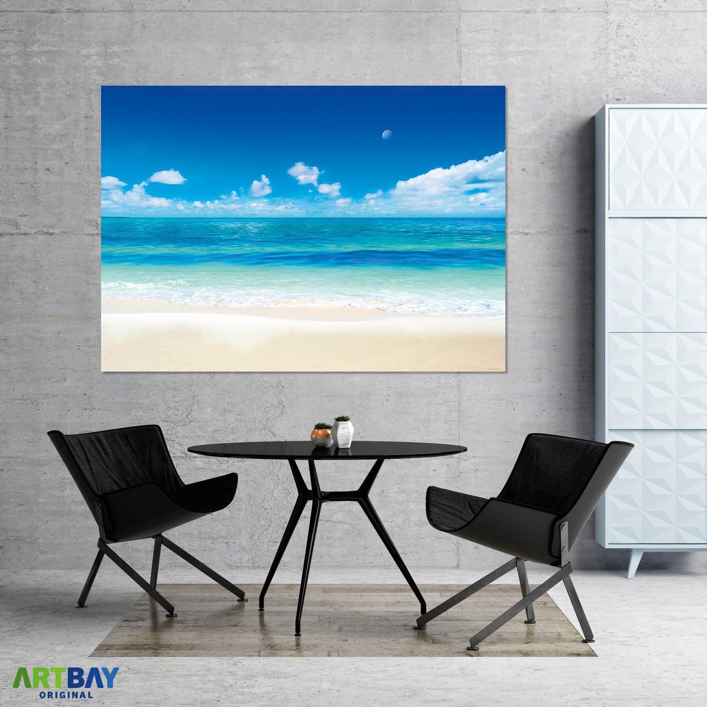 ARTBAY La luna y el mar - Póster XXL - 118,8 x 84 cm | Póster de naturaleza | Decoración mural de alta resolución: Amazon.es: Hogar