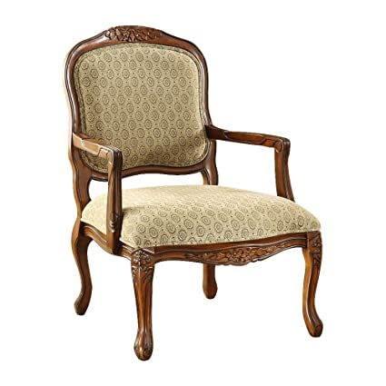 Image Unavailable - Amazon.com: Hand-Carved Wood Accent Arm Chair With Antique Oak