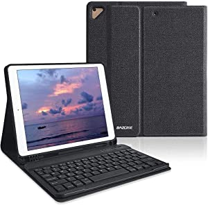 """iPad Keyboard Case 9.7 for iPad 2018 6th Gen iPad Pro 9.7"""" 2017 5th Gen iPad Air 2/Air 1-Wireless Bluetooth Keyboard- Multiple Angle Stand Honeycomb Cover with Pencil Holder (Black)"""