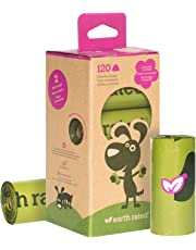 Earth Rated Dog Poop Bags, 120 Extra Thick and Strong Biodegradable Poop Bags for Dogs, Guaranteed Leak-proof, Lavender-scented, 8 Rolls, 15 Doggy Bags Per Roll, Each Dog Waste Bag Measures 23 x 33 cm