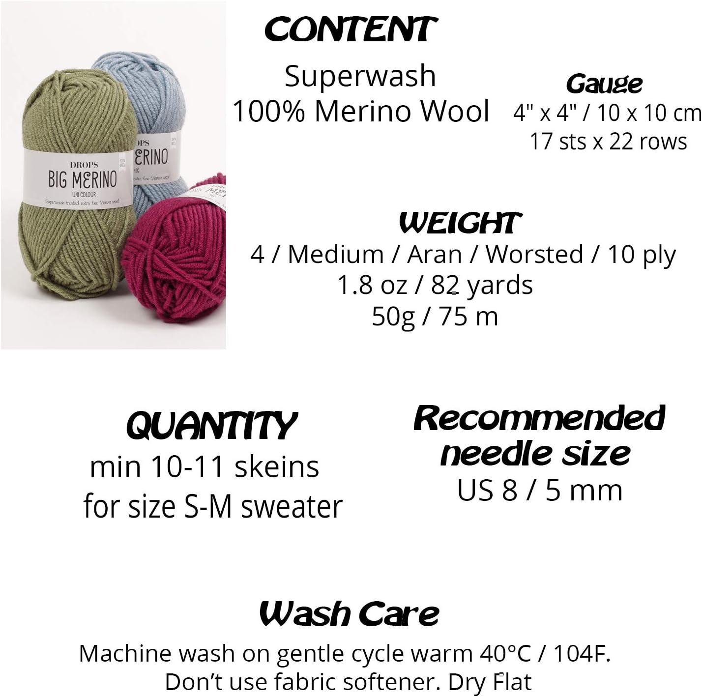 Dorothy/'s Dress 100/% Superwash Merino Multicolored Blue and White Sweater weight yarn Worsted weight merino yarn Medium Weight yarn