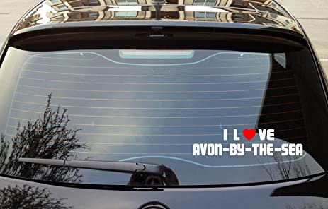 I love avon by the sea new jersey vinyl decal bumper window sticker