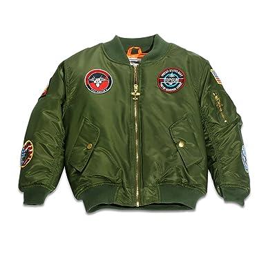 709a86ad2 Amazon.com  Up and Away Boys  MA-1 Flight Jacket  Clothing
