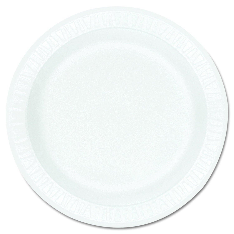Dart 9PWCR 9 in White Unlaminated Foam Plate (Case of 500)