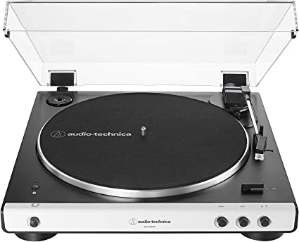 Audio-Technica AT-LP60XBT-WH Fully Automatic Bluetooth Belt-Drive Stereo Turntable