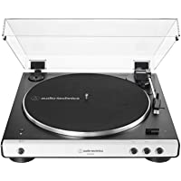 Audio-Technica AT-LP60XBT-WH Fully Automatic Bluetooth Belt-Drive Stereo Turntable, White/Black, Hi-Fidelity, Plays 33…