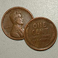 1909 VDB -P Lincoln Wheat Cent Penny - F/VF Condition