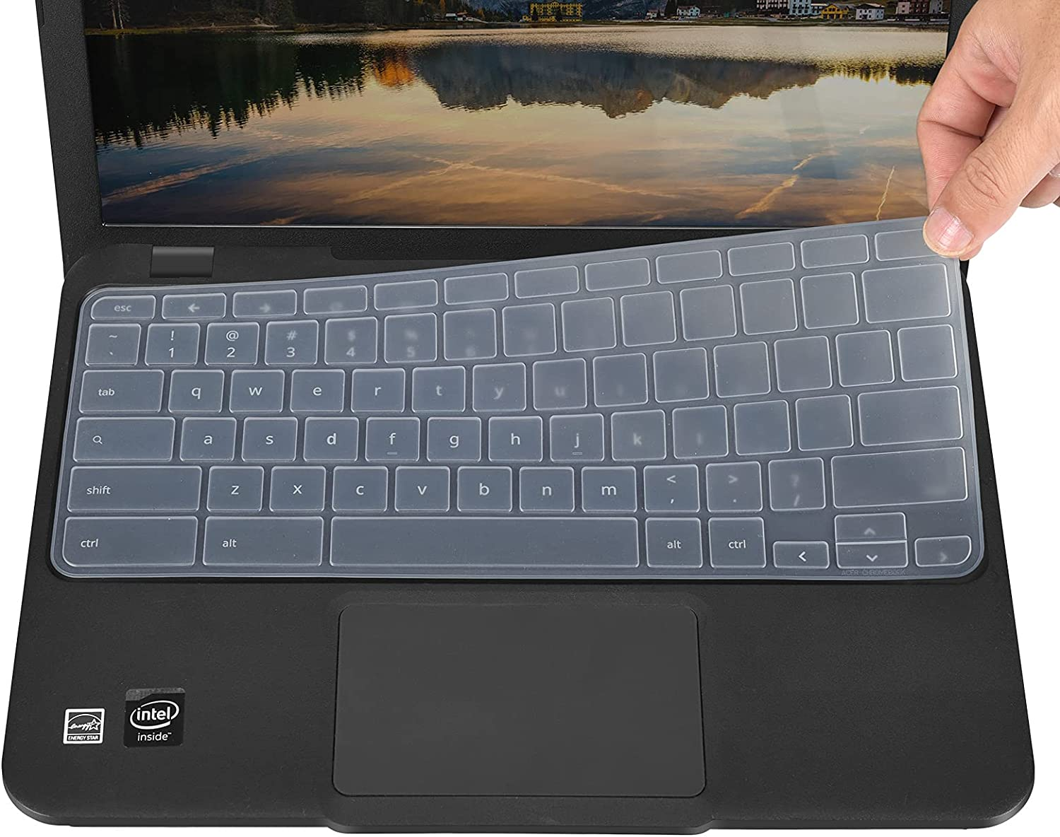Keyboard Cover for Acer Chromebook R11 CB5-132T, Chromebook 14 CB3-431, Chromebook 514 CB514, Chromebook CB3-532, Chromebook R 13 CB5-312T, Chromebook Spin 311 CP311 CP315 CP713 - Clear