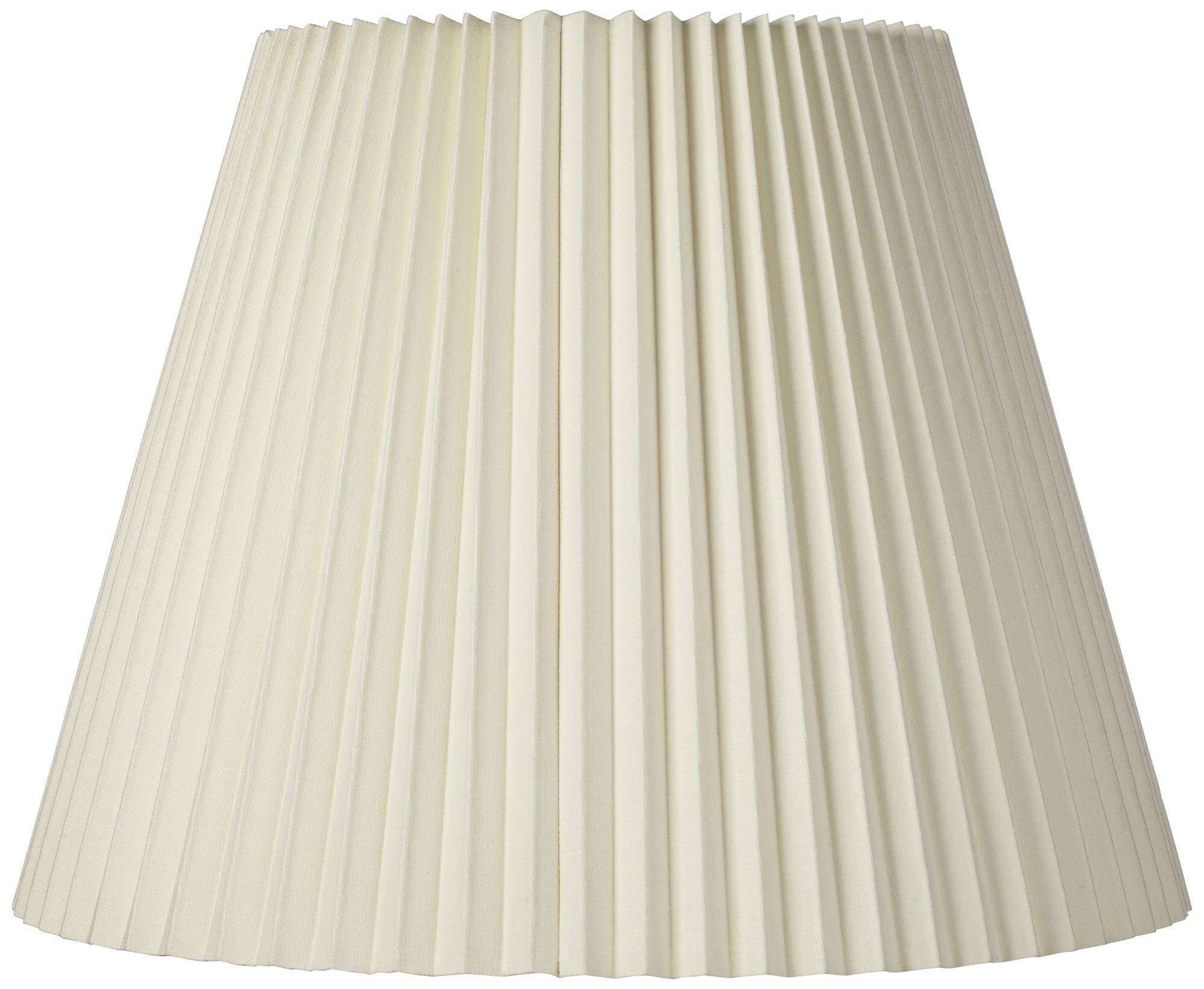 Ivory Pleated Shade 11x19x14.5 (Spider) - Brentwood