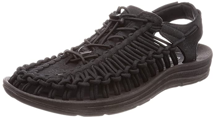 KEEN Men's UNEEK Sandal, Black/Black, 7 M US best supportive sandals for men
