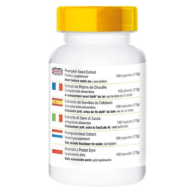 Vitamina E100 – extracto de semilla de calabaza - 100 cápsulas