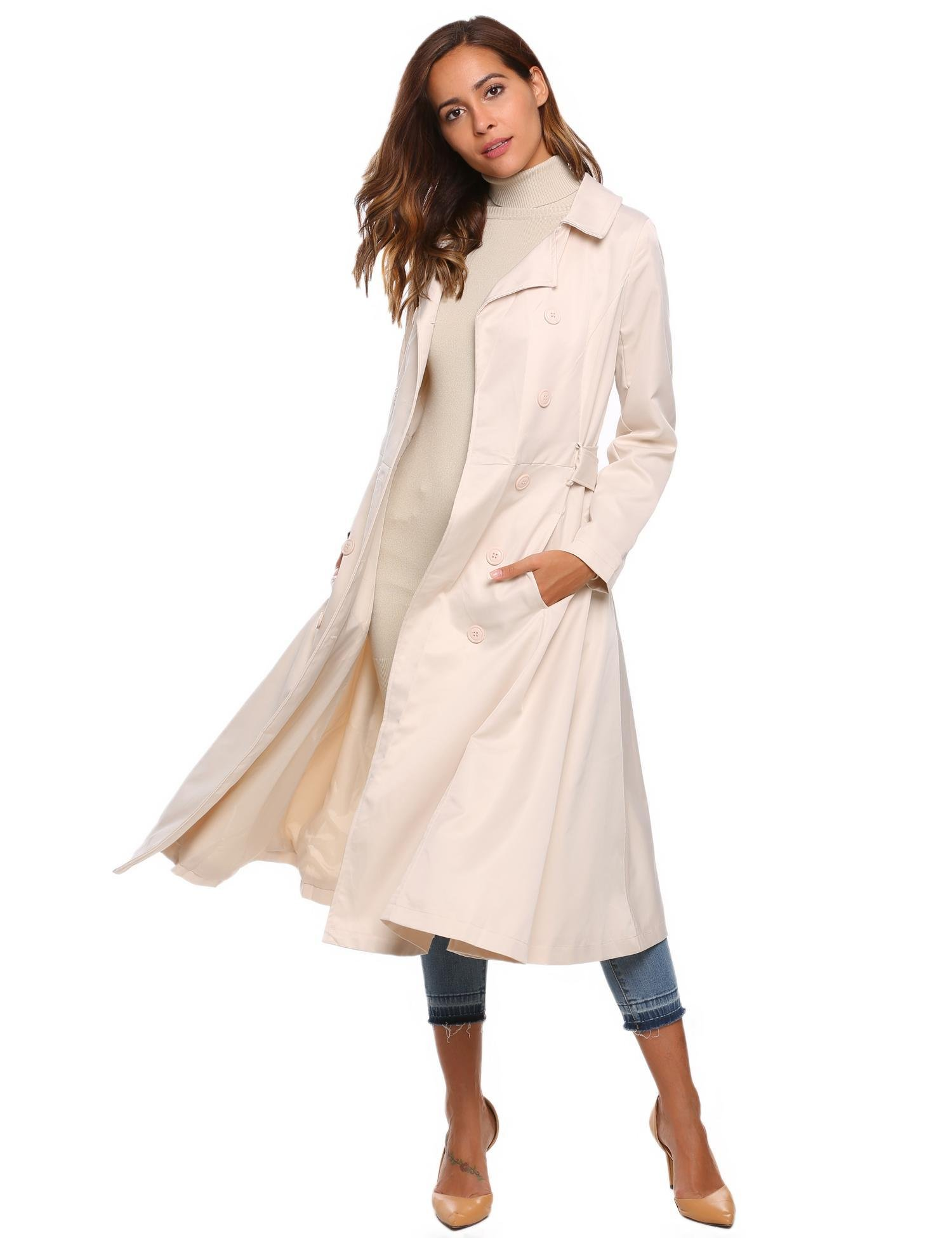 Soteer Women's Fit and Flare Trench Coat