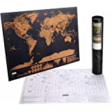 Scratch off World Map, Kakbpe World Travel Tracker Map Scratch off Place You Travel Perfect Traveller's Personalized Gift