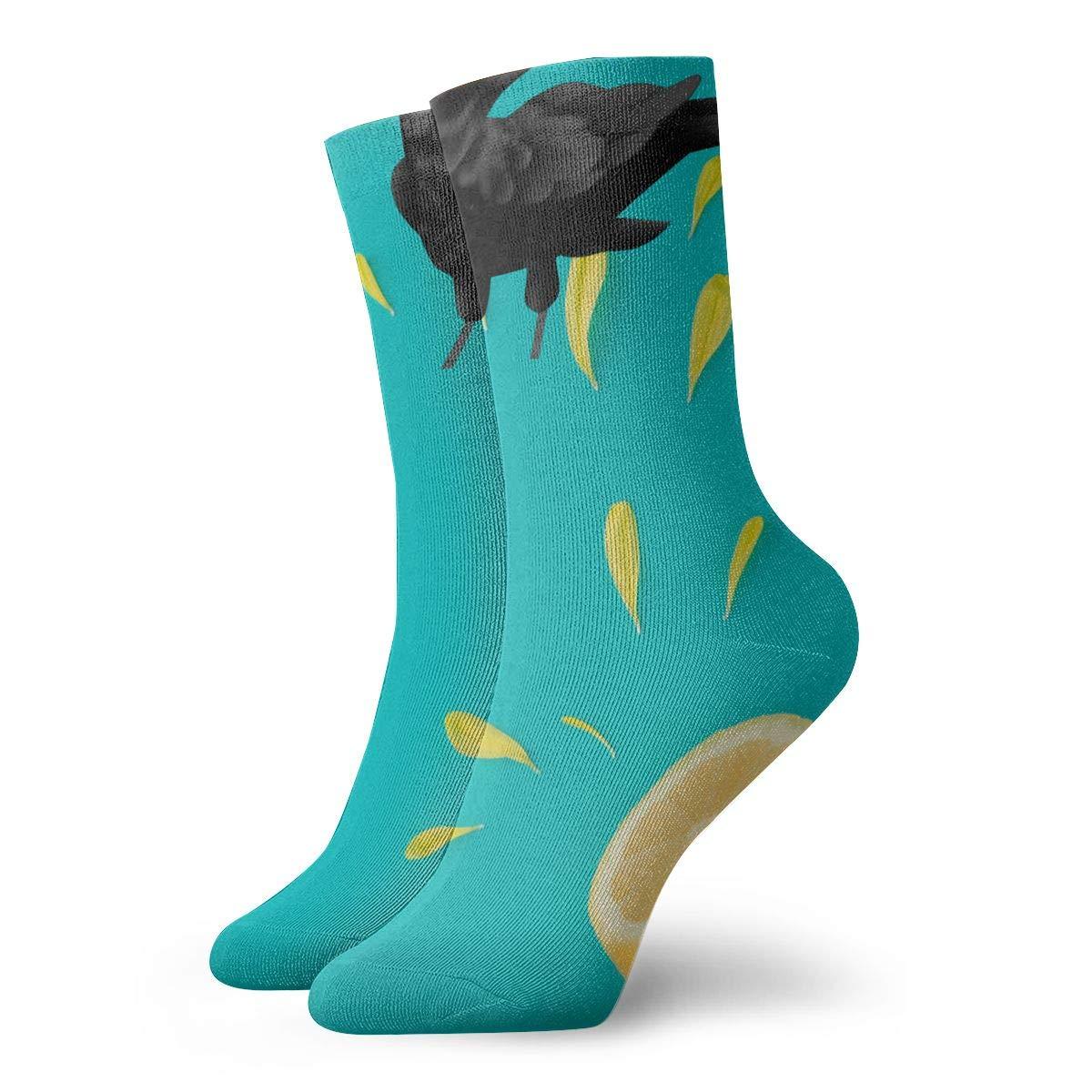 Red-Eyes Crow Fashion Dress Socks Short Socks Leisure Travel 11.8 Inch