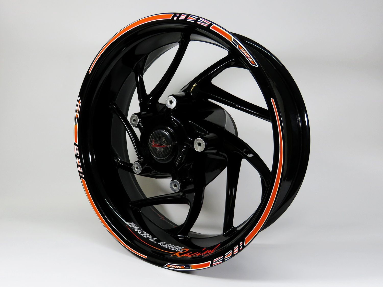 Wheelstripe Set 710029/Orange Racing Bike Car Design