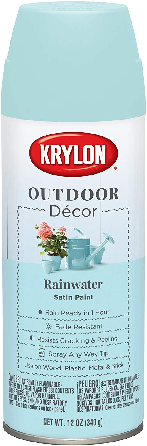Krylon Outdoor Décor Spray Paint, Rainwater