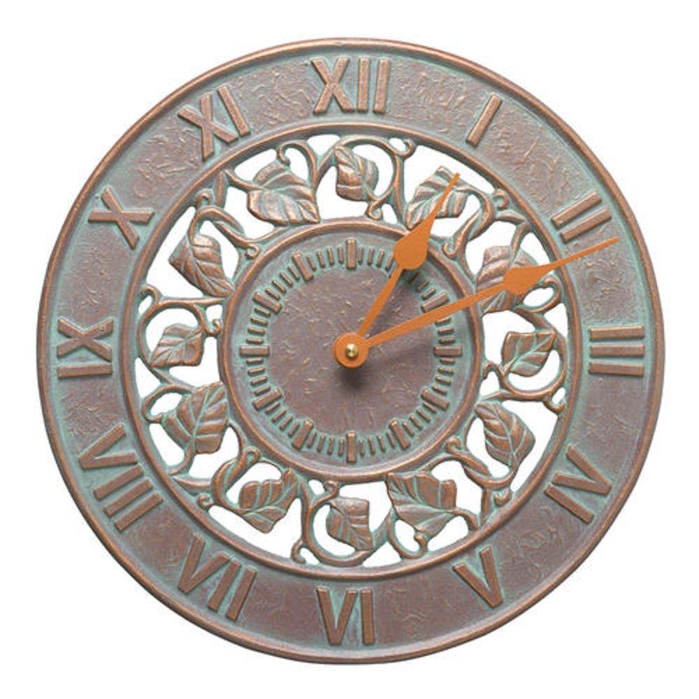 Whitehall Ivy Silhouette Outdoor Clock 12'' Diameter
