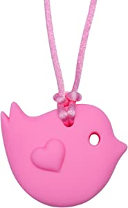 Little Bird - Sensory Chew Necklace by Munchables (Pink)