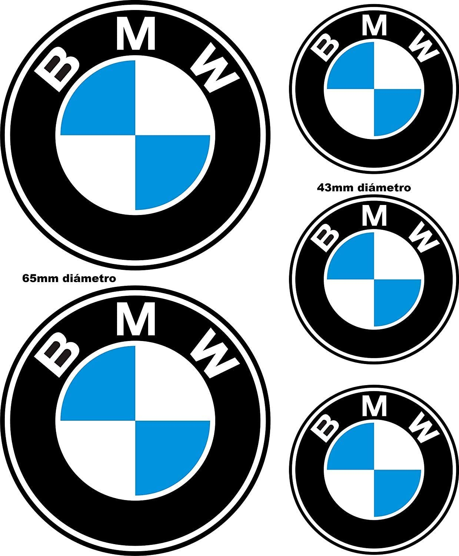 Adhesivos Reflectantes compatibles con BMW / 5 Unidades - Medidas reflejadas en la Imagen/Pegatina Reflectante Logo BMW para Moto, Coche, Casco, Bici: Amazon.es: Coche y moto