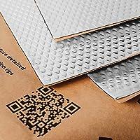 Noico 2 mm 0,95 m² zelfklevende anti-rammel trillingsdempende mat, auto akoestisch isolatie (lawaaireductie en…