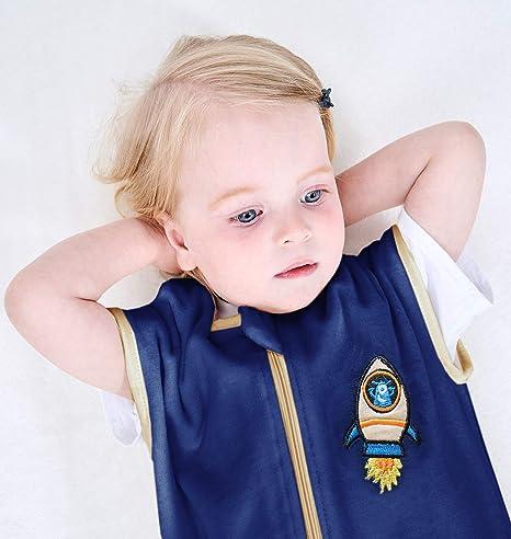 azul y M ililmmoe Saco de dormir unisex con pijamas para beb/é y caminar Tog1.5 mantas algod/ón