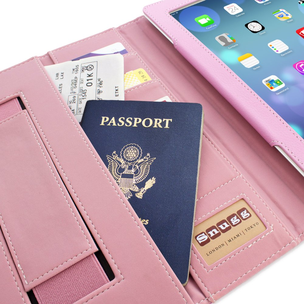 Snugg Leather Flip Stand Case for Apple iPad 3 and 4 - Executive Candy Pink FBA_B00D2URJNG