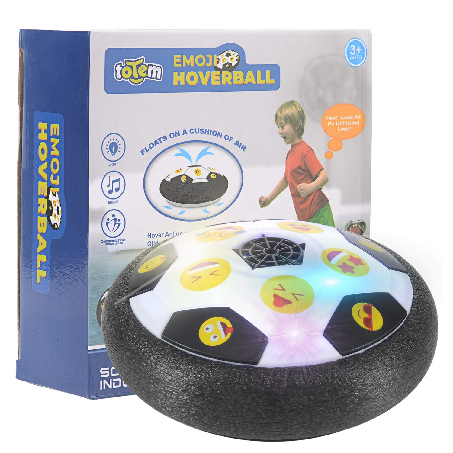1d6db8d0197d Details about Hover Ball Toys for Boys Gifts Soccer Ball Football LED Light  Foam Bumpers Game