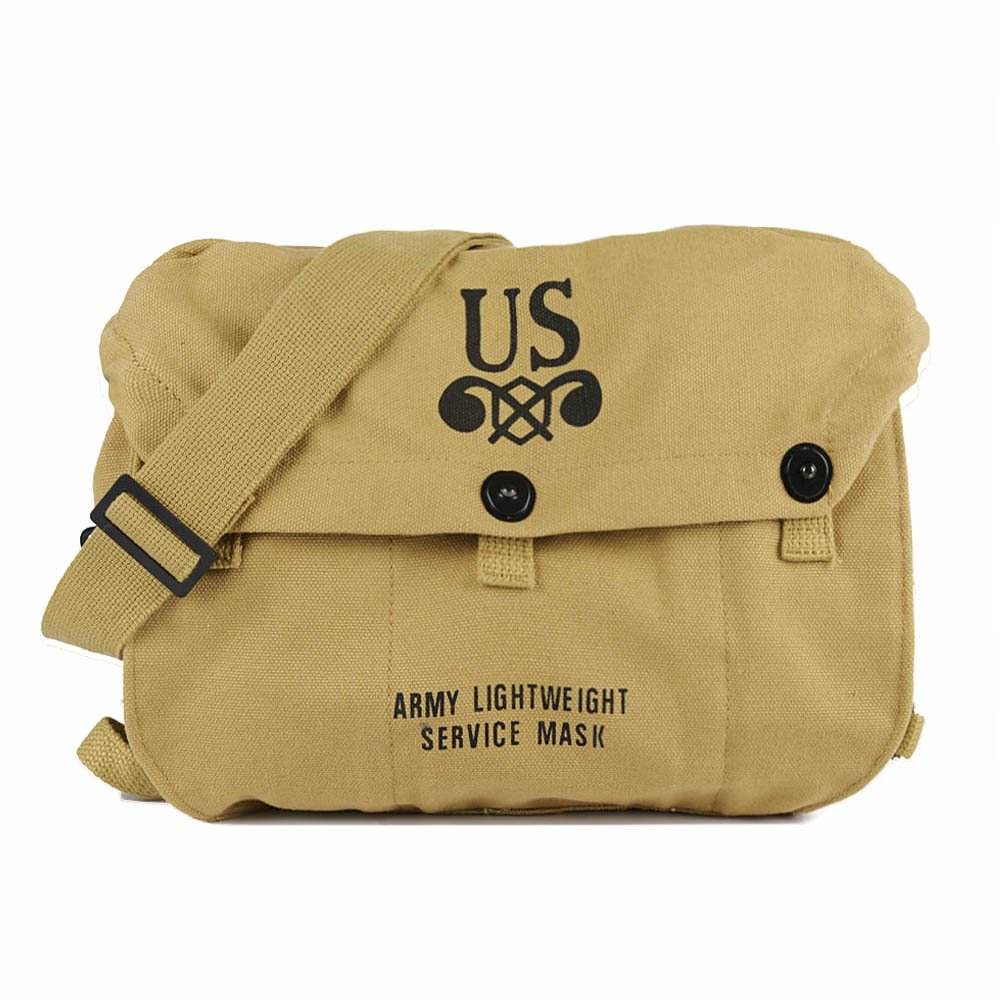Oleader 第二次世界大戦 US 軽量 M6 ガスマスクバッグ 第二次世界大戦 キャンバス ショルダーバッグ カーキ   B07K213V3B