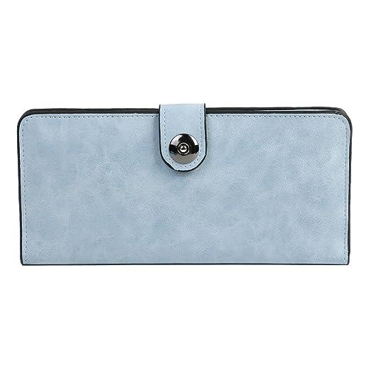 c6140fde5c58 Damara Womens Simple Suede Magnet Thin Wallet