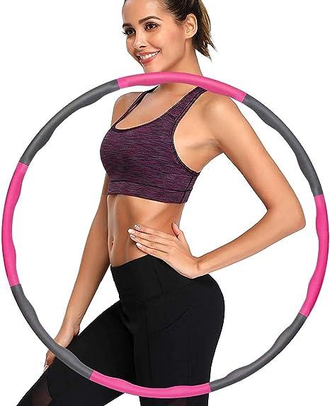Hoops Hula zur Gewichtsreduktion und Massage Verwendet Werden K/öNnen Fitnesskreis Reifen 6-8 Segmente Fitness/übungen Abnehmbarer Gymnastik Kreis Schaumbeschichtung mit Massageknopf ca 1.1 kg