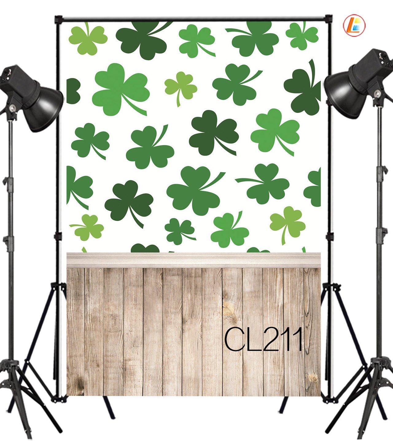 LB 5x7ft Happy Saint Patrick's Day Vinyl Photography Backdrop Customized Photo Background Studio Prop CL211