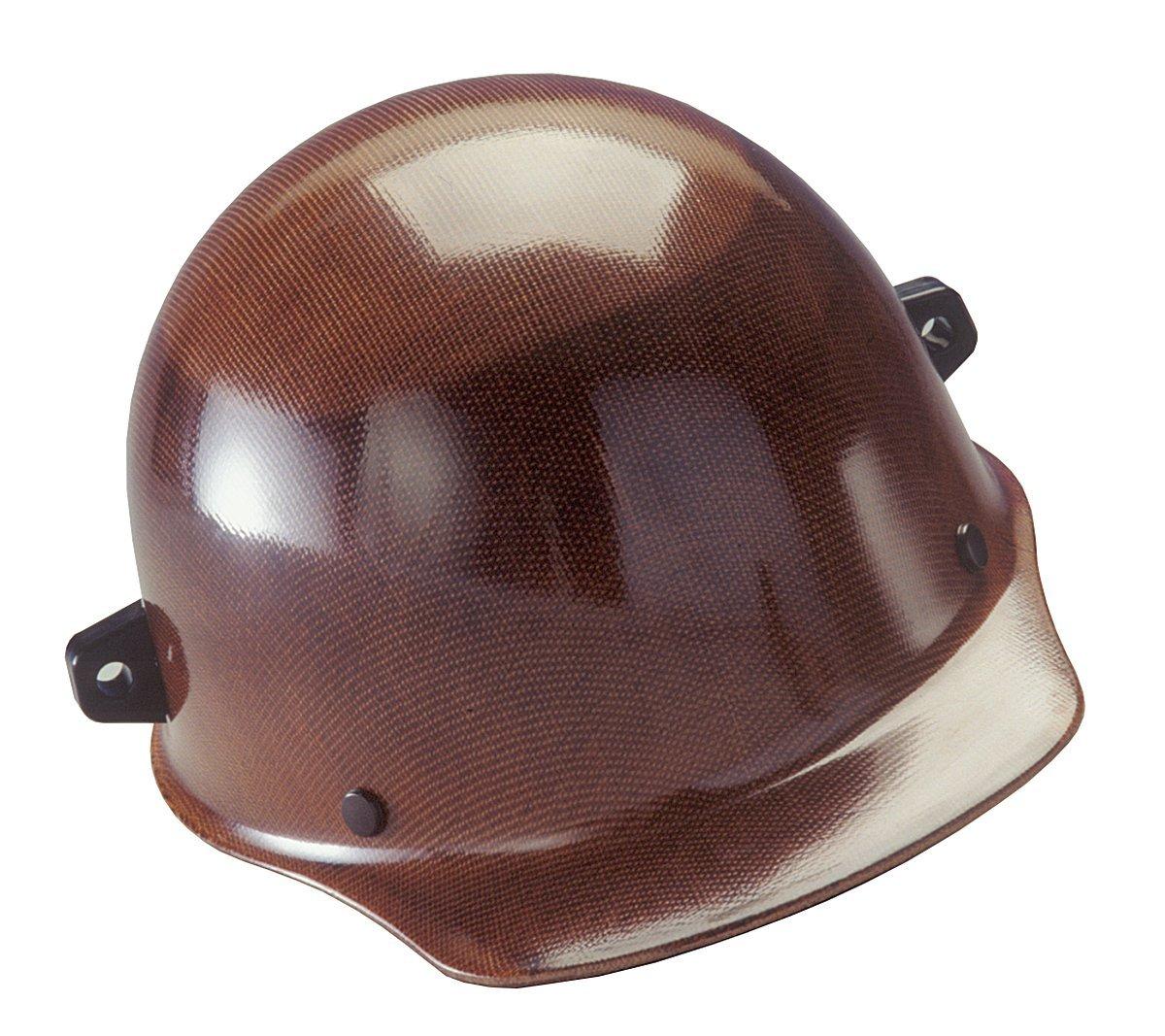 MSA 482002 Skullgard Protective Hard Hat Front Brim, Fas-Trac III Suspension, Standard Size, Natural Tan